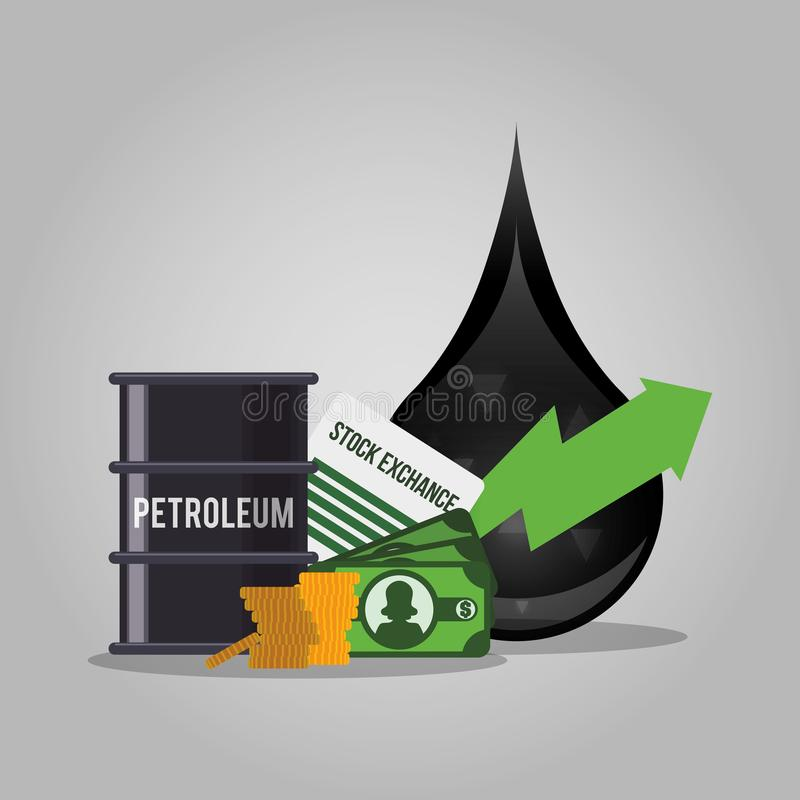 Oil and petroleum industry. Icon vector illustration graphic design stock illustration