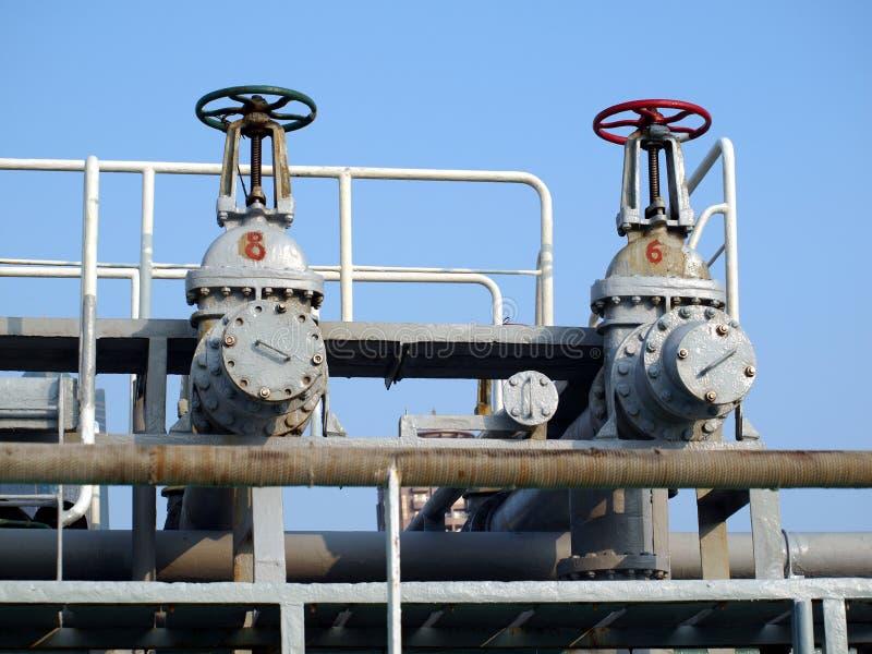 Oil Pipeline Control Valves stock image