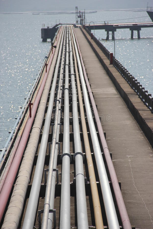 The Oil pipeline royalty free stock photography