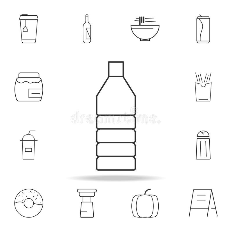 Oil plastic bottle line icon. Detailed set of web icons and signs. Premium graphic design. One of the collection icons for website. S, web design, mobile app on royalty free stock images