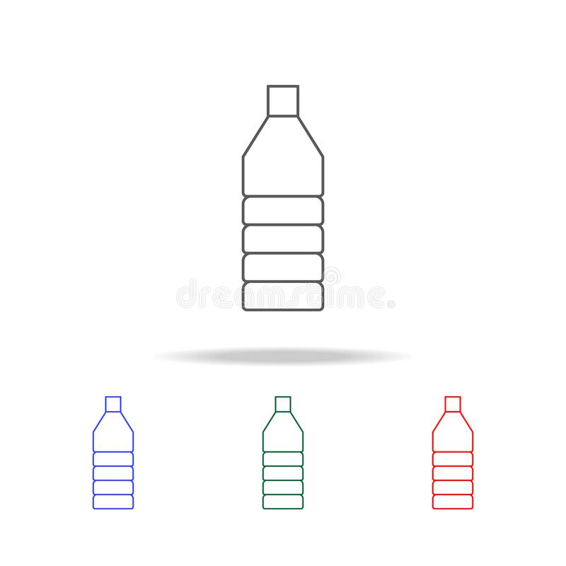 Oil plastic bottle line icon. Elements in multi colored icons for mobile concept and web apps. Icons for website design and develo. Pment, app development on royalty free stock photo