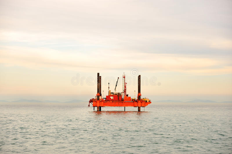 Oil platform. Petrol and gas stock image