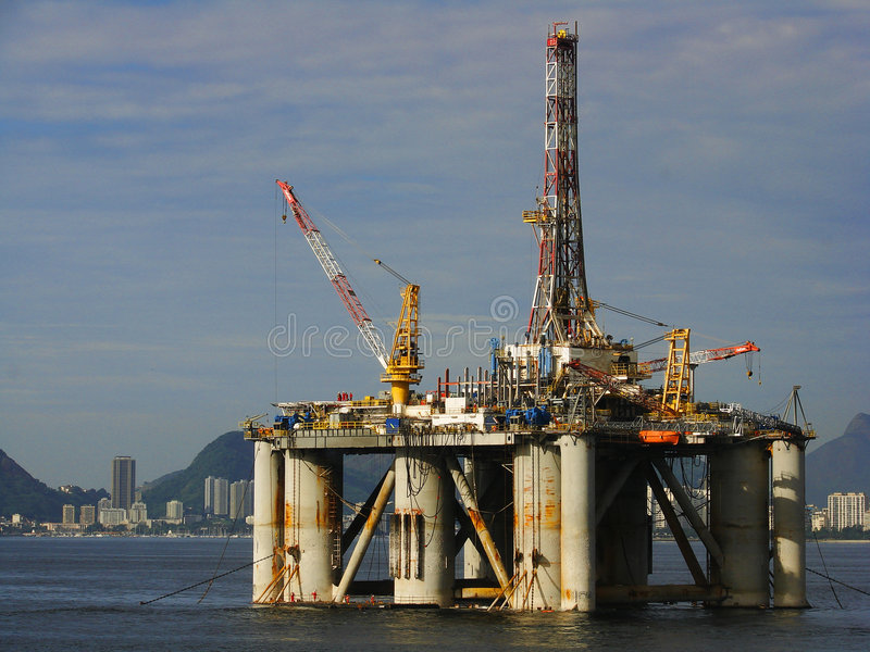 Download Oil Platform stock image. Image of drilling, natural, fossil - 4286783