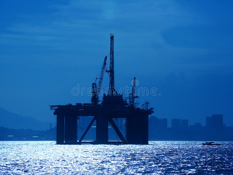 Download Oil Platform stock photo. Image of drilling, orange, energy - 4308916