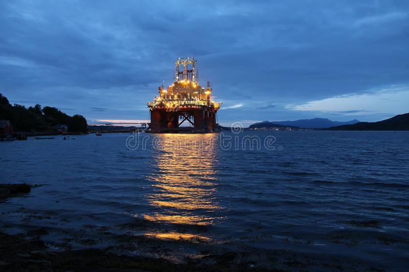 Oil platform construction royalty free stock images