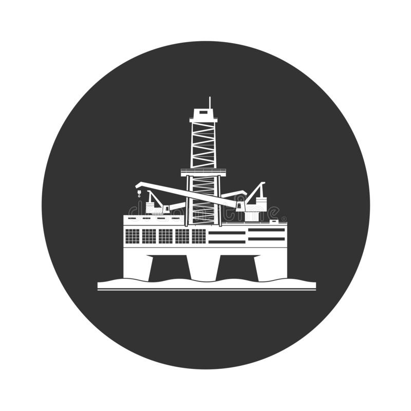 Oil platform icon stock images