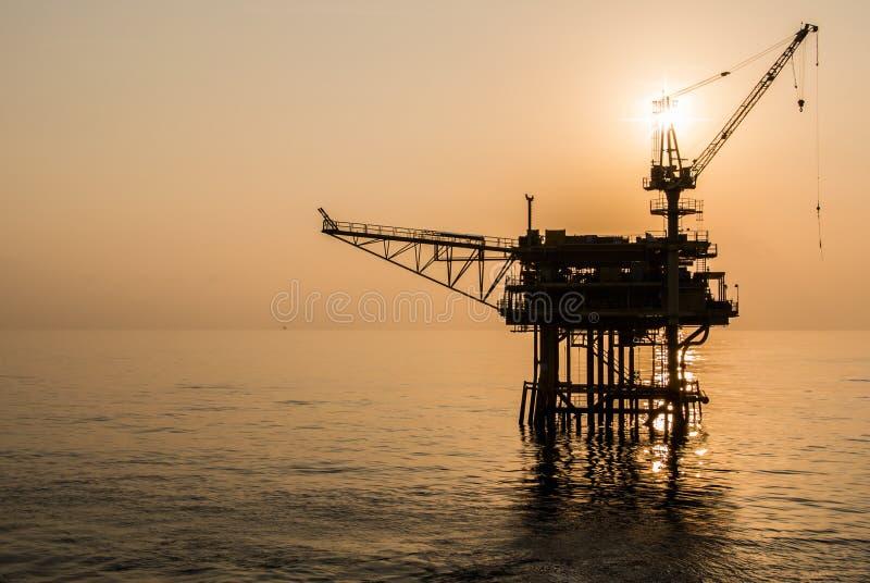Oil platform. On the sea stock image