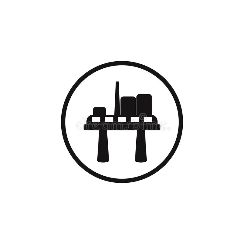 Oil platform sign icon. Element of danger signs icon. Premium quality graphic design icon. Signs and symbols collection icon for w. Ebsites, web design, mobile vector illustration