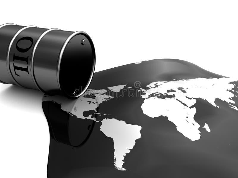 Oil pollution stock illustration