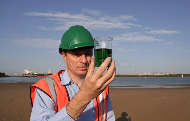 Oil pollution royalty free stock photos