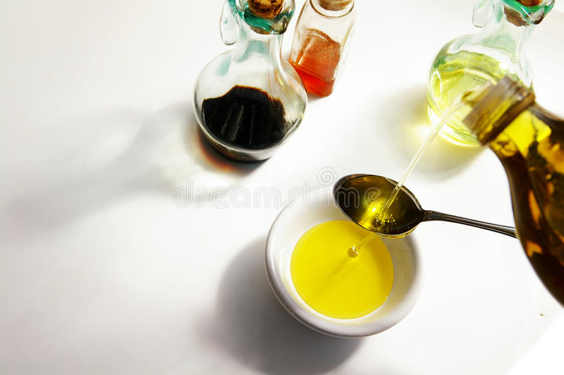 Oil pour royalty free stock photography