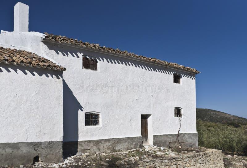 Oil press house in Spain stock photo