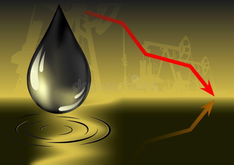 Oil price decrease royalty free illustration