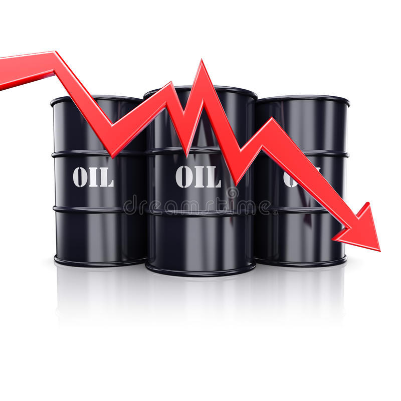 Oil price vector illustration