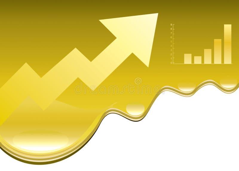 Oil price rising royalty free illustration