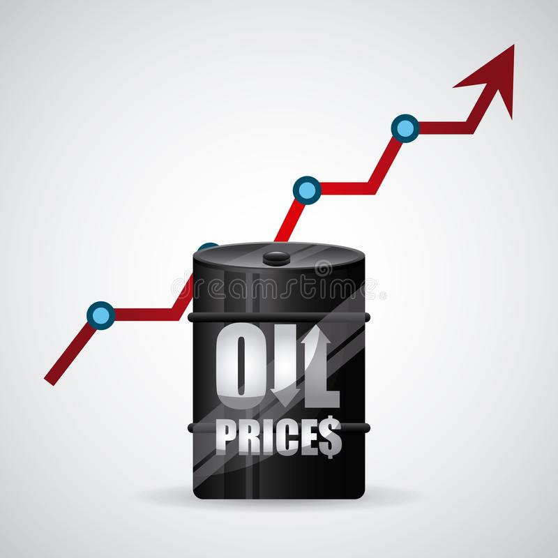 Oil prices. Design, vector illustration eps10 graphic royalty free illustration