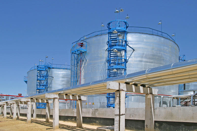 Oil processing plant royalty free stock images