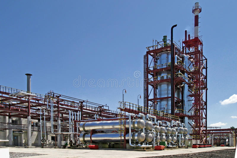 Oil processing plant royalty free stock photography