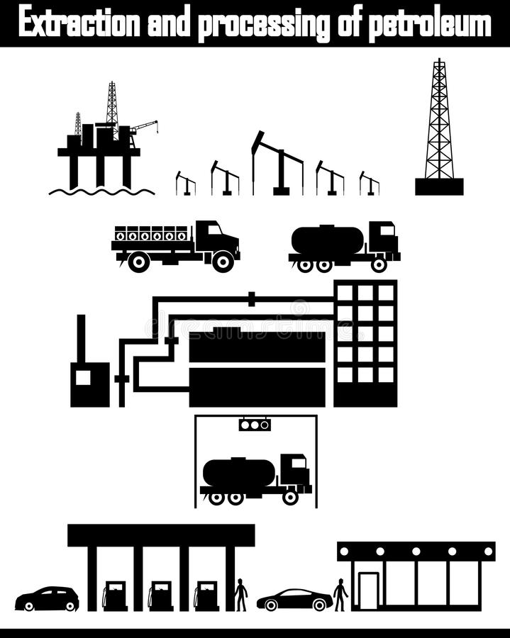 Download Oil Production Equipment Vector Stock Vector - Illustration of pipe, fossil: 32510631