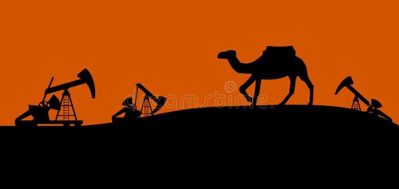 Oil pump vector illustration