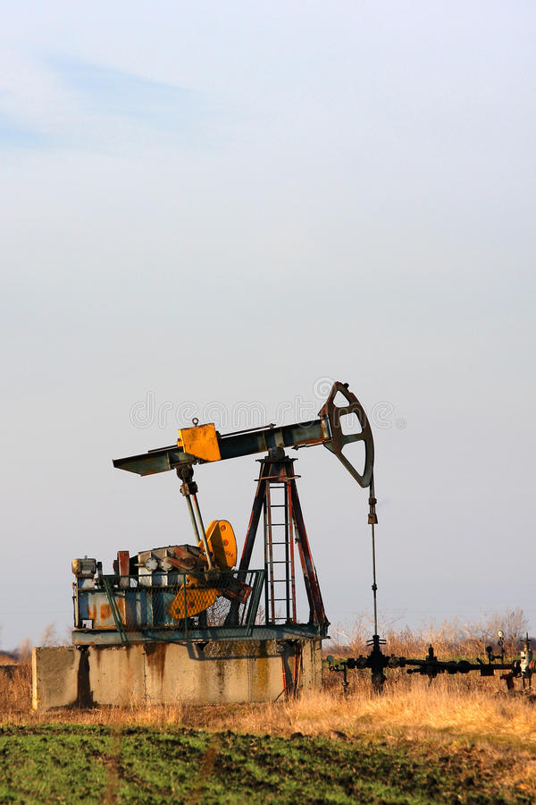 Download Oil pump stock image. Image of blue, pipe, well, renewable - 22498569