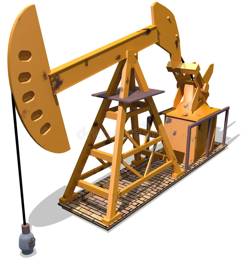 Oil pump royalty free illustration