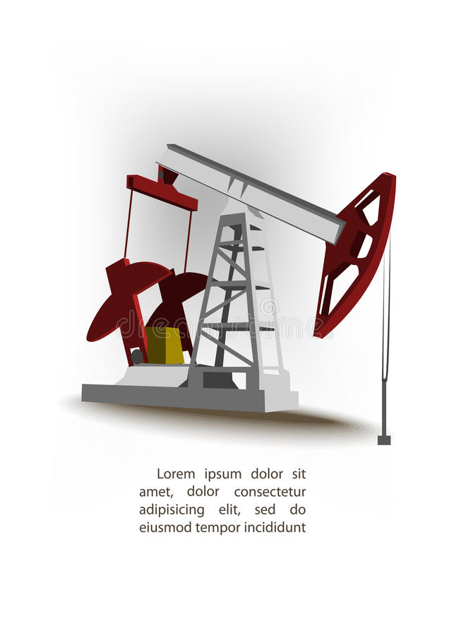 Download Oil pump stock vector. Illustration of power, drilling - 25797626