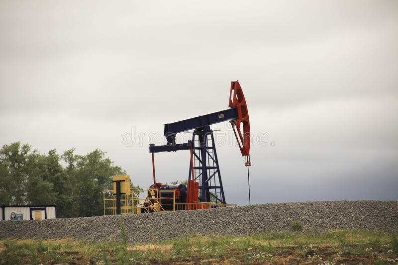 Oil pump royalty free stock images