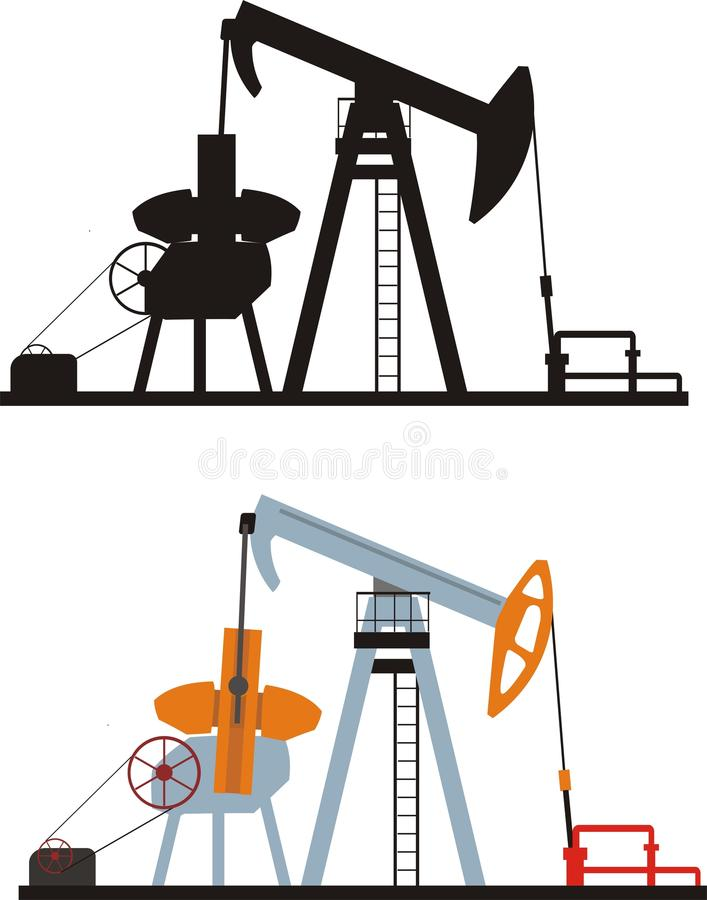 Download Oil pump stock vector. Illustration of rock, handhold - 9582122