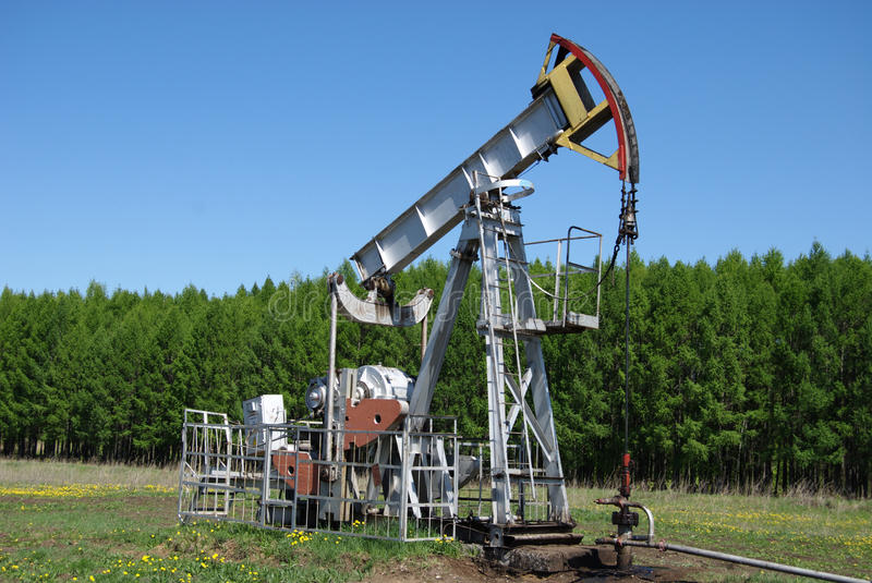 Oil pump royalty free stock photo
