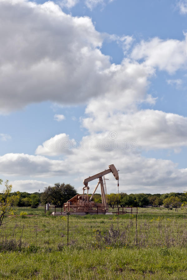 Download Oil pump on country farm stock photo. Image of automated - 16041872
