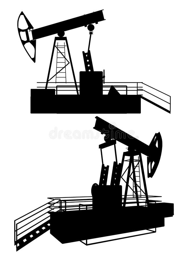 Free Oil Pump Drill Vector 01 Royalty Free Stock Image - 14162016