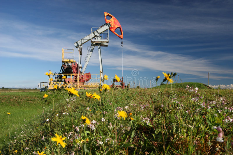 Download Oil pump in field stock photo. Image of production, oilfield - 2795296