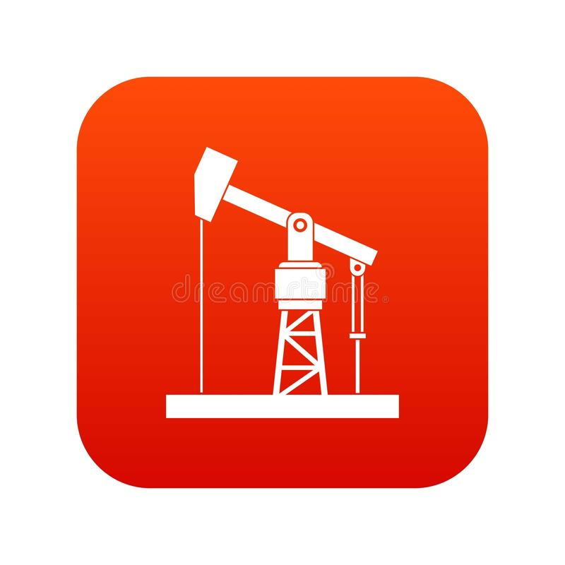 Oil pump icon digital red. For any design isolated on white vector illustration stock illustration