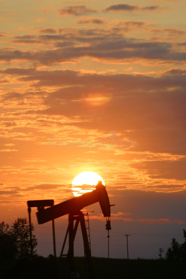 Download Oil pump jack stock image. Image of evening, horizon, fueling - 55971