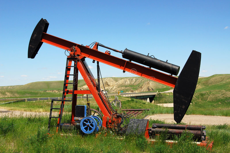 Download Oil pump jack stock photo. Image of money, crude, lever - 5665740