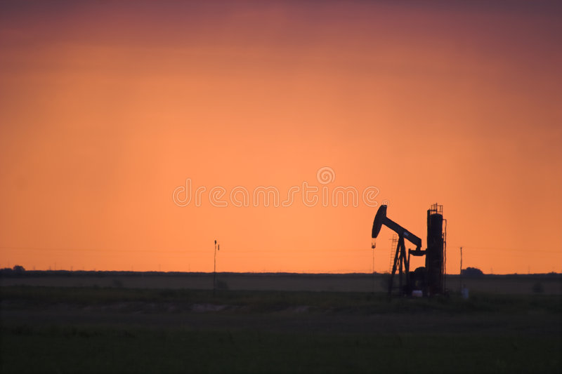 Oil Pump Jack in West Texas royalty free stock photo