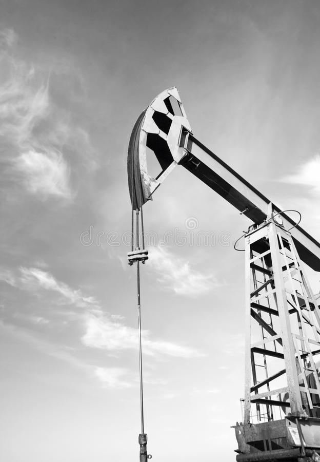 Oil pump. Oil and gas iindustry stock photo