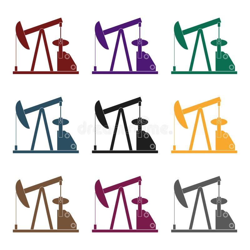 Oil Pumpoil Single Icon In Black Style Vector Symbol Stock