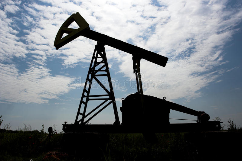 Oil pump silhouette stock image