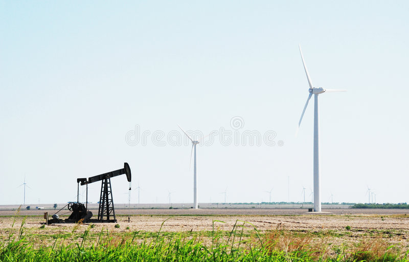 Download Oil Pump Wind Powered Electricity Generators Royalty Free Stock Photography - Image: 5346627