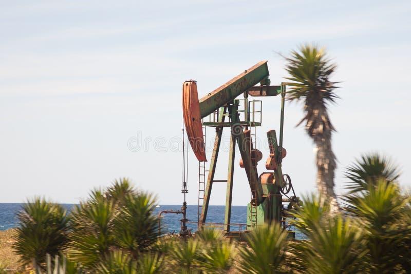 Oil pumpers in Varadero in Cuba stock photo