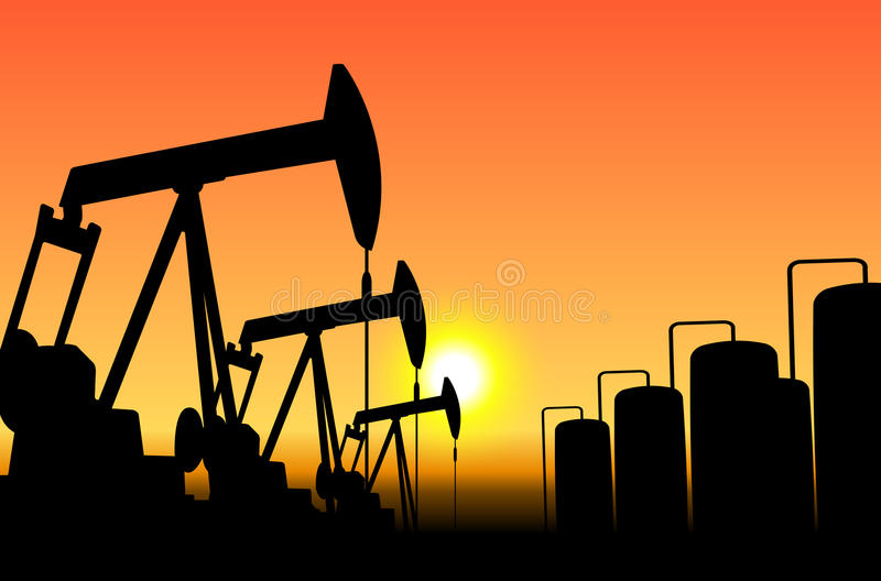 Download Oil pumps stock image. Image of production, exploration - 27872937