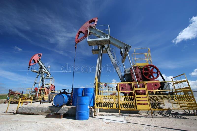 Oil pumps stock image