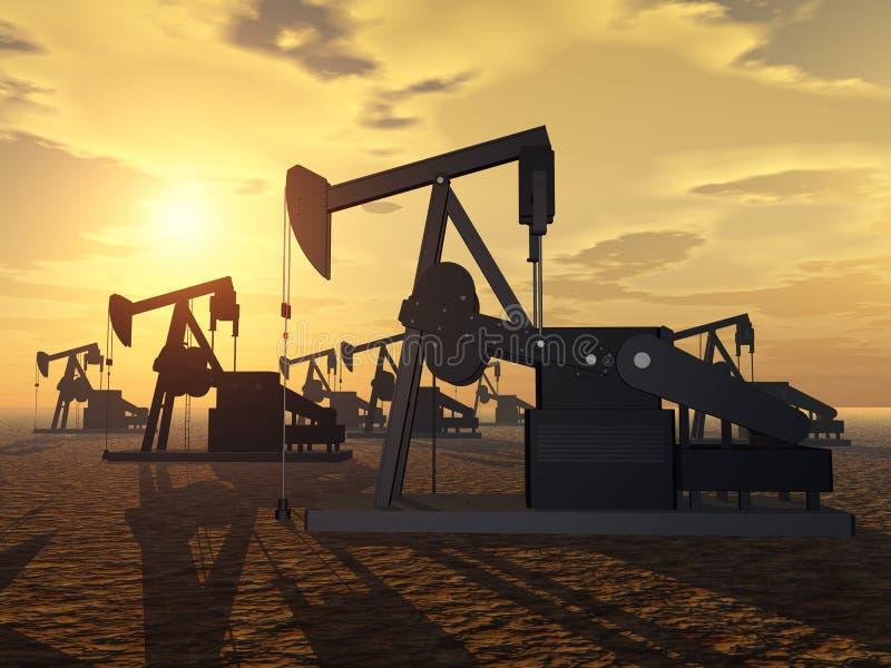 Download Oil Pumps stock illustration. Image of technology, horse - 34444557