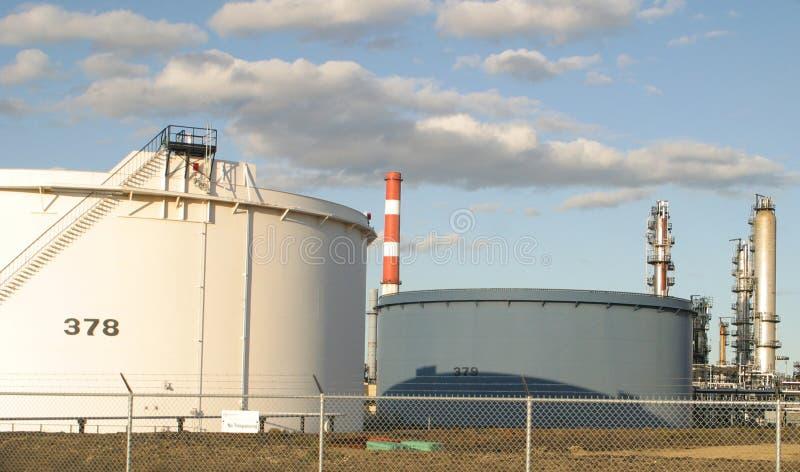 oil raffinaderit arkivfoto