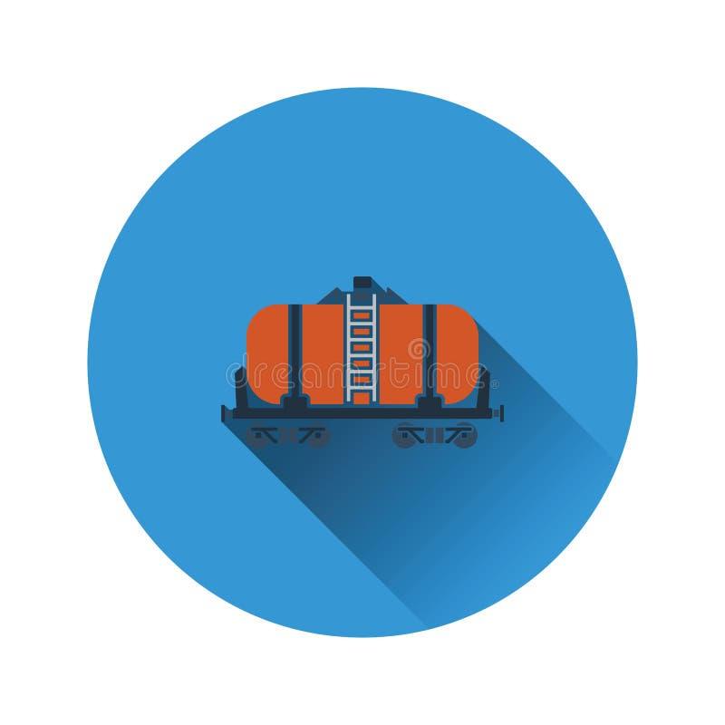Oil railway tank icon royalty free illustration