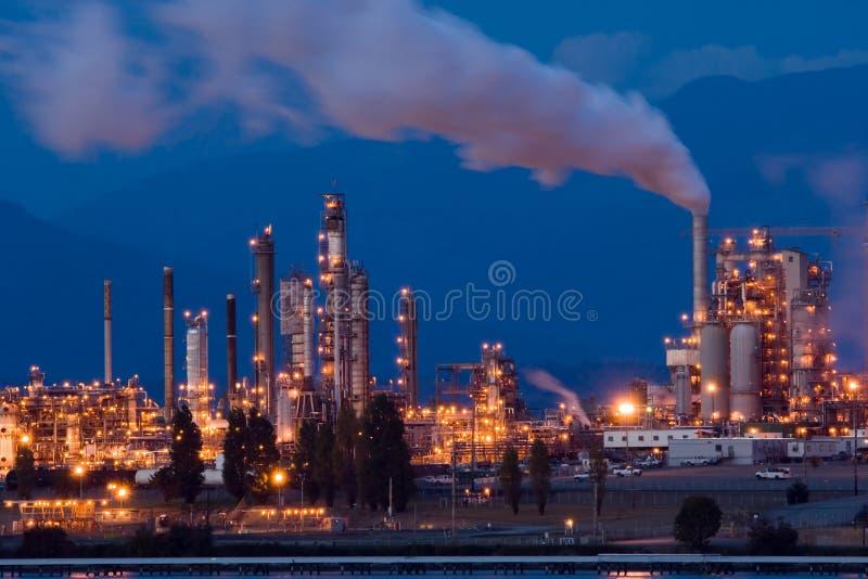 Oil refinery. Anacortes, WA oil refinery at night