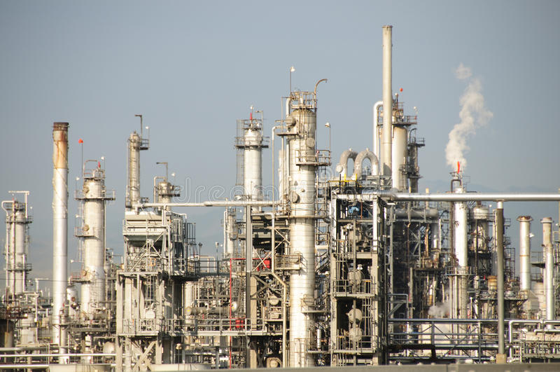 Oil Refinery. A oil refinery in Denver Colorado royalty free stock image
