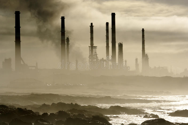 Download Oil refinery stock photo. Image of refinery, smog, cloud - 14661624